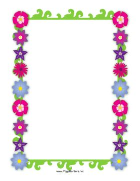 flower design page borders flower border