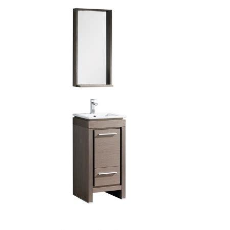 single sink bathroom vanity  gray oak  matching mirror uvfvngo