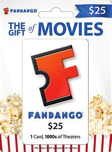 What Is A Fandango Gift Card - fandango 25 gift card ebay