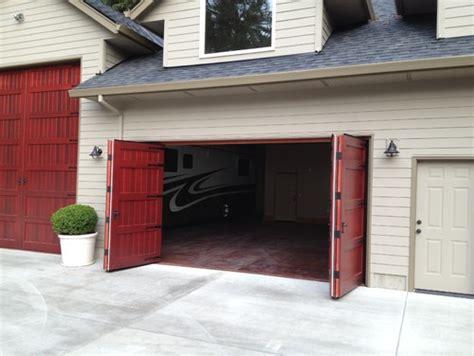 Overhead Bifold Doors More Switching From Overhead Garage Doors To Carriage Doors Non Warping Patented