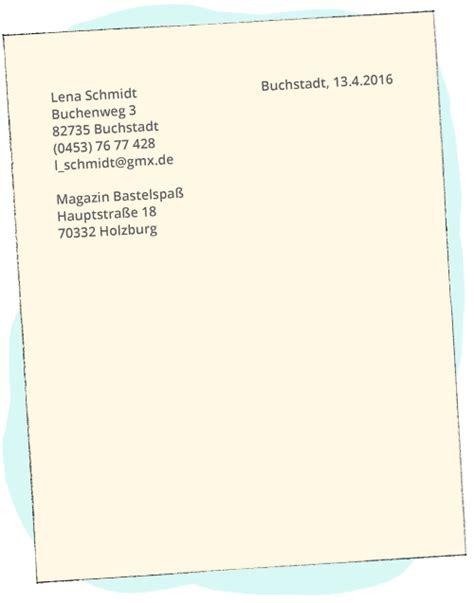 Datum Offizieller Brief Englisch Einen Brief Schreiben Englisch