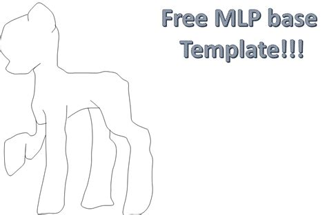mlp template my pony base template free by derpyhooveslol on