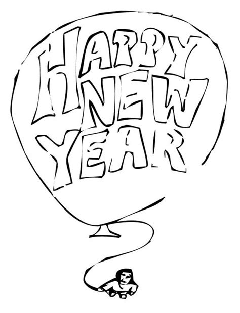 coloring pages for new years eve 2014 giant balloon with new years eve message on 2015 new year