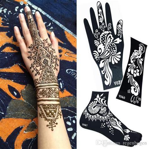 colora mehndi henna temporary tattoo kit with stencils 2015 new temporary tatoo stencils mehndi henna