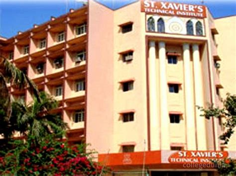 Xaviers Mumbai Mba Fees by St Xaviers Technical Institute Mumbai Courses Fees 2017
