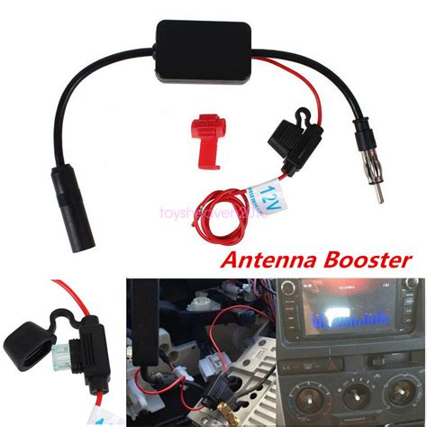 auto car stereo antenna fm am radio signal lifier booster strengthen 12v ebay