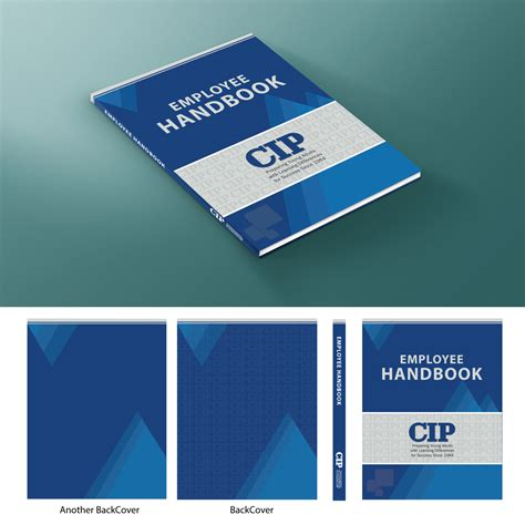 Modern Bold Book Cover Design For College Internship Program Cip By Designmoment Design Employee Handbook Cover Design Template