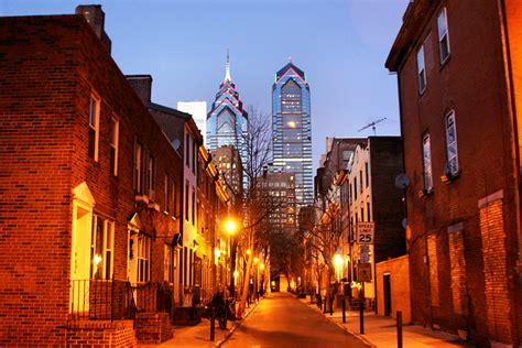 be beautiful philadelphia philadelphia alley with skyscrapers downtown