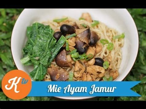 Mie Ayam Drop Out resep mie ayam jamur chicken noodle recipe