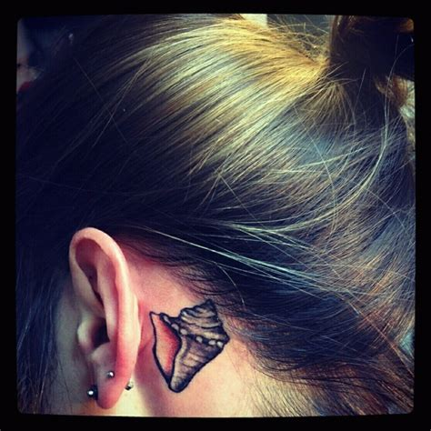 conch shell tattoo my conch shell it so i can always hear the