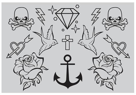 new school tattoo vector old school tattoo vectors download free vector art