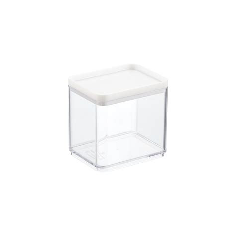 narrow stackable canisters with white lids the container stackable rectangle clear containers with white lids the