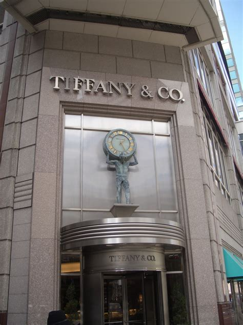 tiffany l exhibit nyc entrance of tiffany co a jewelry and silverware store