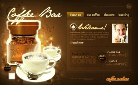 Coffee Shop Flash Template 19920 Coffee Shop Website Template Free