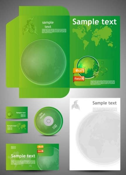 Green Card Template by Green Card Template 05 Vector Free Vector In Encapsulated