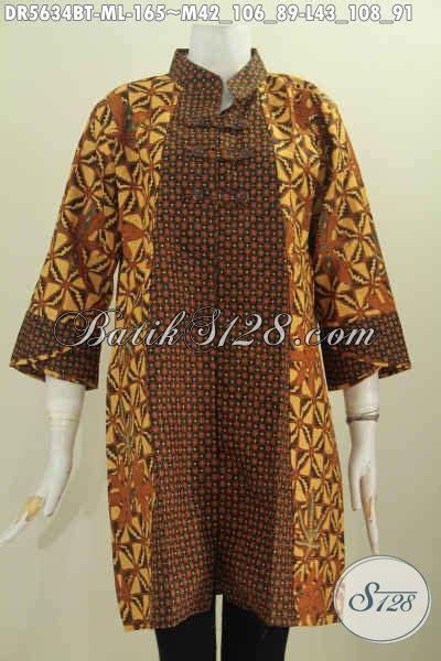 Baju Syifa Tunik Dr baju batik model baru pakaian batik klasik kerah shanghai