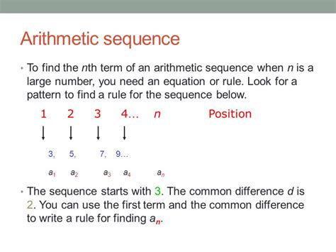position pattern rule 3 6 arithmetic sequences ppt download