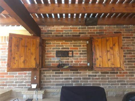 outdoor tv cabinet ideas outdoor tv cabinet enclosure home design ideas