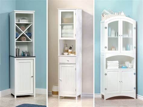 beautiful bathroom storage cabinets white on bathroom