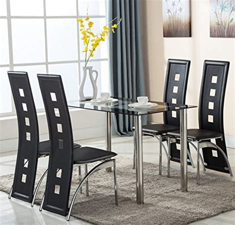 shino black 5 piece dining room furniture set free 5 piece dining room sets amazon com