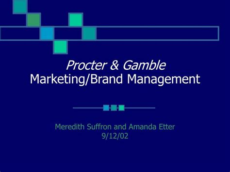 Procter And Gamble Mba Leadership Program by Ppt Procter Gamble Marketing Brand Management