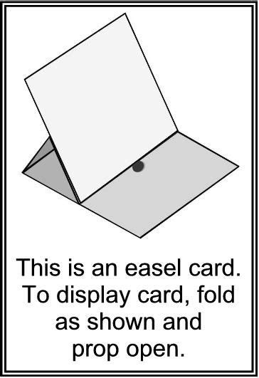 easel card template best 25 easel cards ideas on folded cards