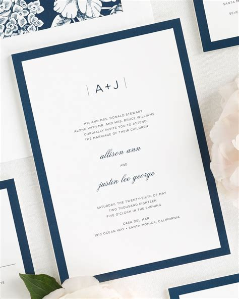 Modern Wedding Invitations by Sophisticated Modern Wedding Invitations Wedding