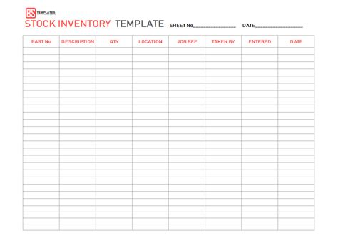 Excel Inventory Template Free Sle Exle Format In Stock Inventory Template