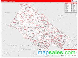 zip code map delaware county pa montgomery county pa zip code wall map by marketmaps from