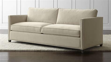 crate and barrel queen sleeper sofa dryden queen sleeper sofa with nailheads and air mattress