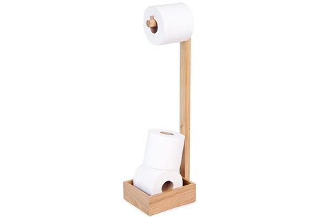 Freestanding Toilet Roll Holder   Solid Oak   Natural Bed Company
