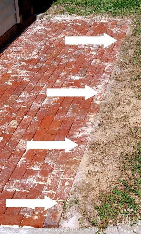 How To Build A Patio With Bricks by How To Build A Brick Patio The Scrap Shoppe