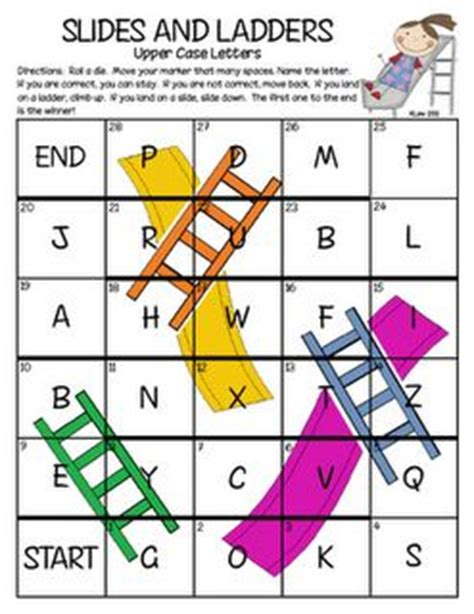printable alphabet recognition games ladder letters and letter recognition on pinterest