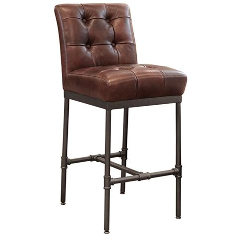 classic leather parker upholstered back bar stool cl7674asb modern furniture wooden stools kitchen bar stools