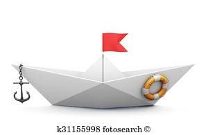 origami boat with anchor lifeline anchor illustrations and clip art 5 lifeline