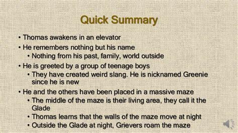 maze runner book report maze runner