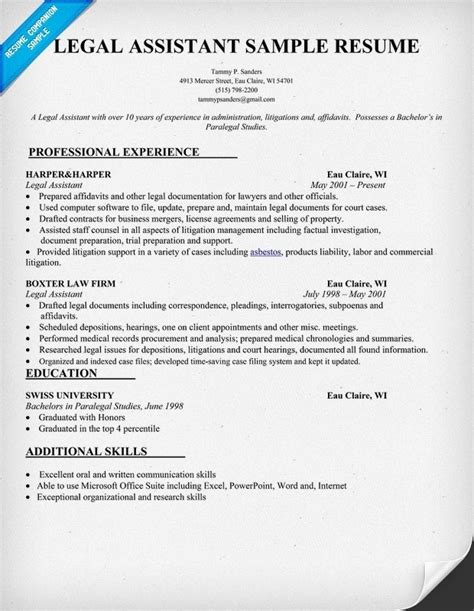 17 best images about resumes jobs on pinterest sle legal assistant resume jennywashere com