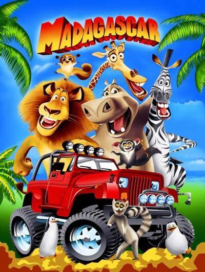 Sprei Madagascar selimut rosanna panel karakter kartun