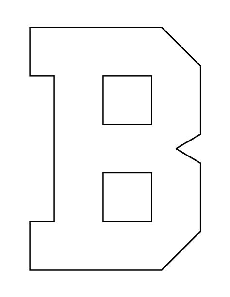 B Template by Letter B Template Www Pixshark Images Galleries