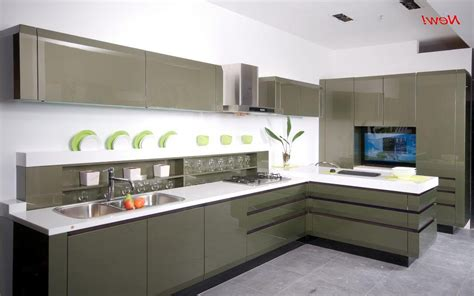 Kitchen Furniture Design Images by Trendy And Sleek Kitchen With Laminate Island And Pullout