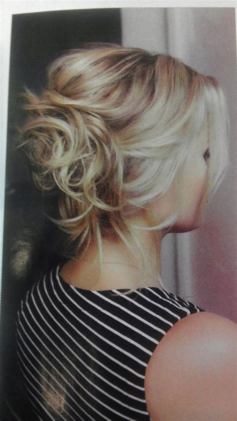 blonde hairstyles updo blonde messy bun hair pinterest updo my hair and style