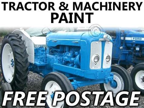 tractor paint fordson empire blue major dexta ebay