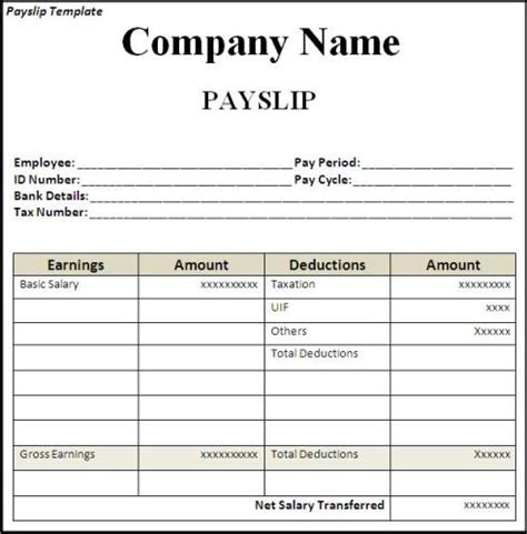 Top 5 Free Payslip Templates Word Templates Excel Templates Playmaker Pro Templates