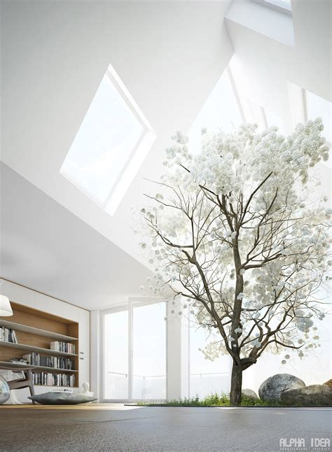 natural lighting home design living rooms with skylights