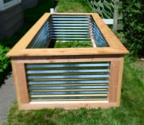 corrugated metal raised garden beds 8 best corrugated metal garden beds images on pinterest