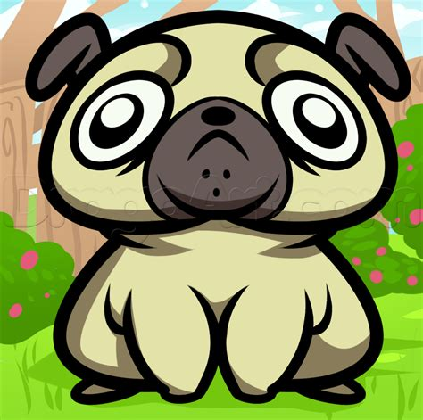 how to draw a pug for how to draw a derpy pug step by step animals animals free drawing