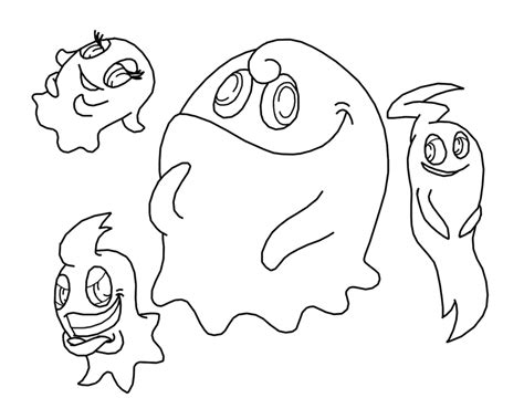 pacman ghost coloring page free pacman ghosts coloring pages