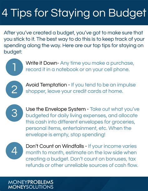 7 Tips For Budgeting Your Finances by Tip Sheet How To Stay On Budget Moneyproblems Ca