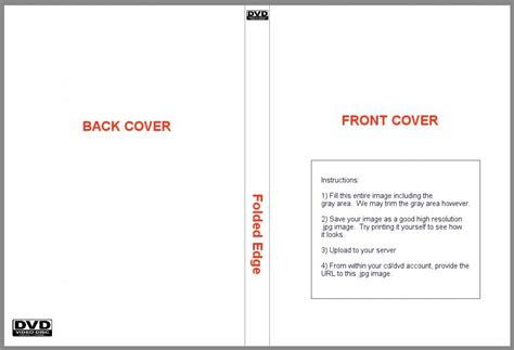 cover template dvd cover template template business