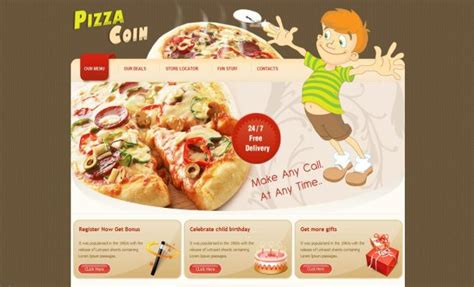 templates for pizza website free pizza restaurant css website template